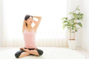 生活習慣を整える女性